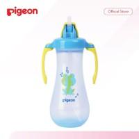 Botol Minum Sedotan Pigeon Tall Straw 300ml Botol Minum Gagang 9m+