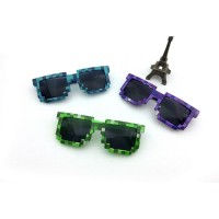 Kacamata Warna 8-bit Minecraft Kaca Mata Kekinian Unisex