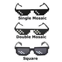 Kacamata Hitam 8-bit Minecraft Kaca Mata Kekinian Unisex