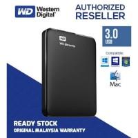 """WD Hardisk External Elements 1TB HDD/Hardisk Eksternal 2.5"""" USB 3.0"""
