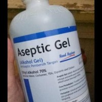 ASEPTIC GEL 500ML ONEMED WITH PUMP HAND SANITIZER KODE 1136