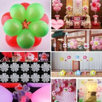 10PCS Latex Balloon Sheet Flower Shape Clip Birthday Party Wedding