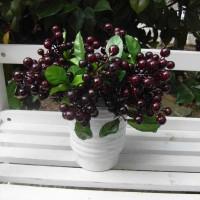 Berry Silk Flower Leaf Bouquet Outdoor Party Wedding Garden