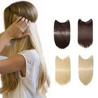 """[Promo] 20/24"""" Straight Secret Wire No Clip Hair Extensions Natural H"""