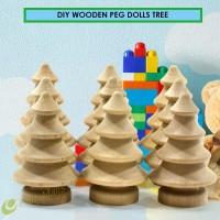 ❣10pcs DIY Wooden Peg Dolls Tree Wedding Cake Decoration Kids