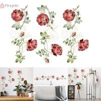 Stiker Dinding 45x60cm Bahan PVC Anti Air Motif Bunga Mawar untuk