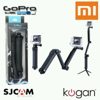 Monopod 3 Way Foldable 3in1 Tongsis Multi Fungsi for Action Camer
