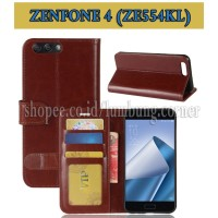 Flip Cover Asus Zenfone 4 ZE554KL Leather Case Wallet Card