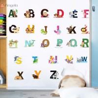 Stiker Dinding dengan Bahan Mudah Dilepas dan Gambar 26 Huruf