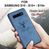 Case Samsung S10 - S10 Plus - S10e softcase casing cover leather DEER