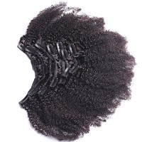 Afro Kinky Curly Clip In Human Hair Extensions Mongolian Virgin Human