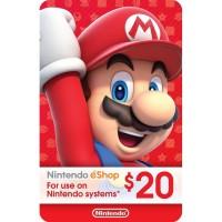 Nintendo Eshop Card 20 USD (US)