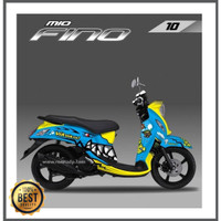 STRIPING DECAL STIKER FULL BODY YAMAHA MIO FINO MAX DECAL SUPER