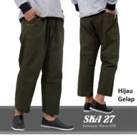 Celana Panjang Cargo katun Pangsi Sirwal - Hitam