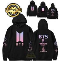 Jaket sweater Hoodie BTS K-Pop Korean Style Premium Tebal