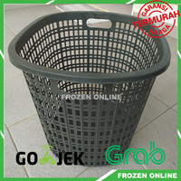 Keranjang Baju / Laundry basket Pakaian Laundry Plastik Besar Tinggi