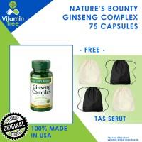 Nature's Bounty Ginseng Complex 75 Caps Original USA