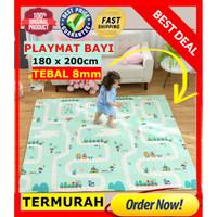 Karpet / Matras / PlayMat BIG Lipat Tebal 1cm Bayi Merangkak 200x180cm