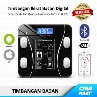 Timbangan Badan Digital Body Fat Scale Smart App Bluetooth USB LED