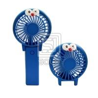 Kipas angin mini Genggam Charging Fan Cartoon Folding Color Lamp Q7