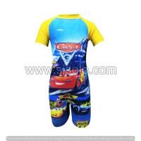 Baju Renang Anak Cowok Cewek motif Gambar Lengan Pendek Celana Pendek