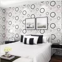 wallpaper dinding sticker - polkadot 45 cm x 10 m