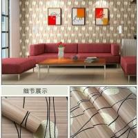 wallpaper dinding dandelion coklat 45 cm x 10 m