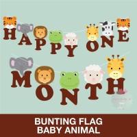 Custom Bunting Flag Banner Huruf DIY Animal Hewan