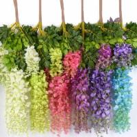 GUNINCO BUNGA WISTERIA GANTUNG bunga hias palsu dekorasi tanaman