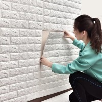GUNINCO WALLPAPER 3D FOAM wall sticker batu bata hiasan stiker dinding