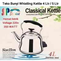 Teko Stainless Listrik 4L 5L Liter / Whistling Kettle / Ceret Bunyi