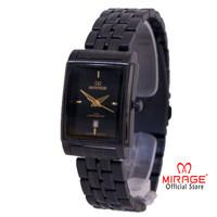 New Release Jam Tangan Mirage Branded Watch Hitam Black 8576L Garansi