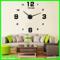 Jam Dinding DIY Giant Wall Clock 80-130cm Diameter - ELET00660 - Black