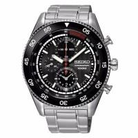 Jam Tangan Pria Seiko Quartz Chronograph Watch Black Dial SNDG57P1