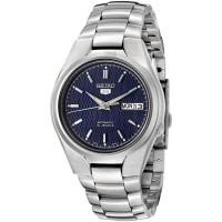 Jam Tangan Pria Seiko 5 Automatic 21 Jewels Blue Pattern Dial SNK603K1
