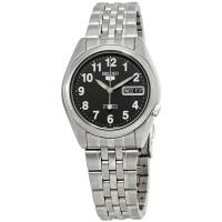 Jam Tangan Pria Seiko 5 Automatic Black Dial Stainless Steel SNK381K1