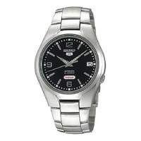 Jam Tangan Unisex Seiko 5 Automatic Black Dial Stainless Stee SNK623K1