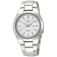 Jam Tangan Pria Seiko 5 White Dial Silver Stainless Steel SNK601K1