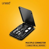 UNEED Multiple Connector USB A /Lightning/ Micro USB with Cable C to C
