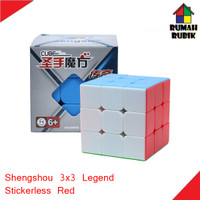 Rubik 3x3 Shengshou Sengso Legend Stickerless Red / SS7133ASR