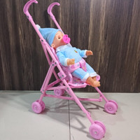Mainan dorongan bayi dan boneka - Baby stroller edukatif
