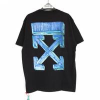 Off White Marker S/S Over T-shirt Black Blue 100% Original