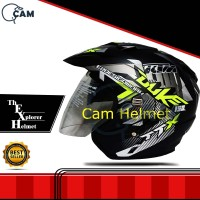 Helm motor sni 2 kaca Duke Yellow double visor bukan kyt nhk gm bxp