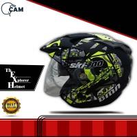 Helm SNI double visor Skidoo Yellow doff bukan BXP KYT INK GM NHK JPN