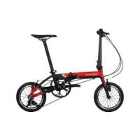 Dahon Sepeda Lipat 19 K3 - Merah/Hitam
