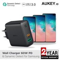 Aukey Charger Dual-Port 60W PD with Dynamic Detect for Samsung -500394