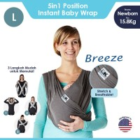 Baby K'tan Baby Carrier Breeze Charcoal L