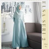 Gamis Elsa Dress Seri 2 by Greenism - Sky Blue, S