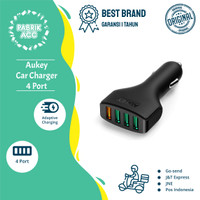 Aukey CC-T9 Car Charger 4 Port 54W QC 3.0 + Cable Micro Usb -