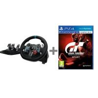 Logitech G29 Racing Wheel + Gran Turismo PS4 Racing Pack